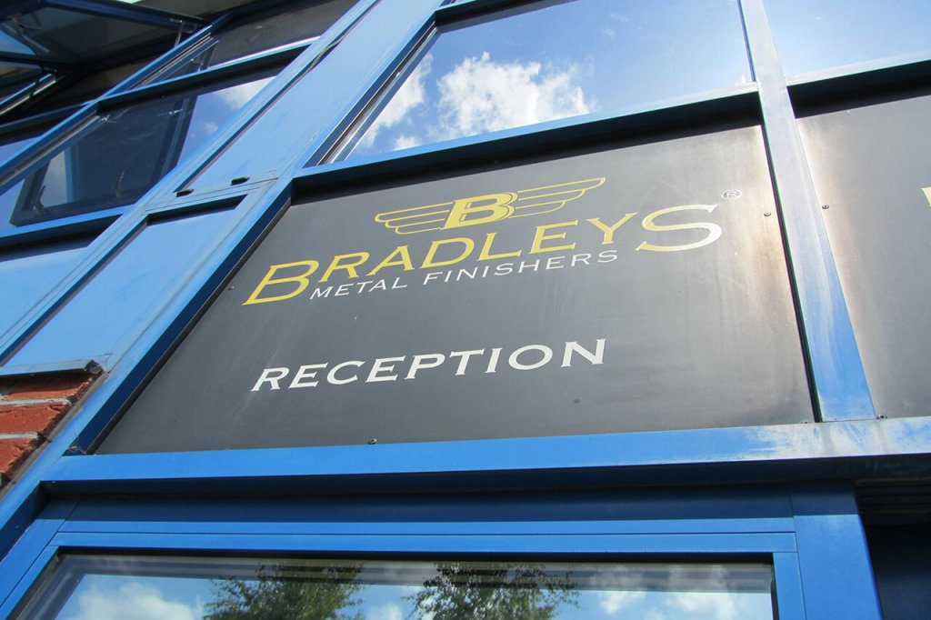 Bradleys reception sign over entrance