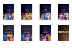 Thumbnails of brochure covers
