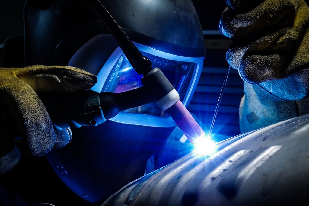 Welder Close-up