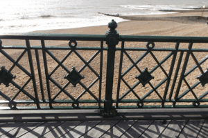 Hastings Pier Balustrade close-up