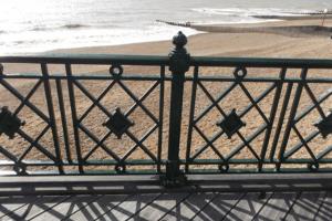 Hastings Pier Balustrade close-up