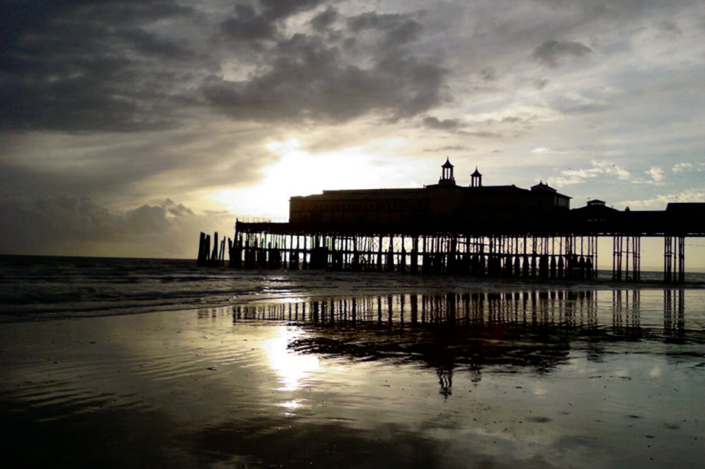 Hastings Pier Silhouette at Sunset