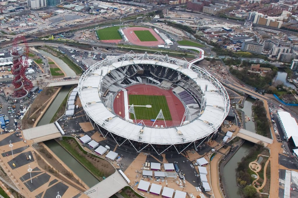 London Olympic Park Stadium Aerial View